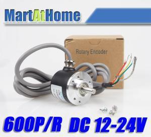 New 600P/R Incremental Rotary Encoder 6mm Shaft DC 5-24V #SM548 @SD e6a2 cs5c 50p r rotary encoder new e6a2cs5c 50p r 50pr compact size e6a2 cs5c