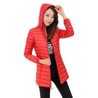 Winter New Hooded Women Parkas Thin Slim Fashion Warm Down Cotton Jackets Zipper Lady Cotton Coats Plus Size Outwear Mw002