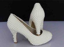 2016  handmade custom made Beautiful Platform High Heel Dress Shoes Bridal Wedding Dress Shoes Evening Dress Shoes