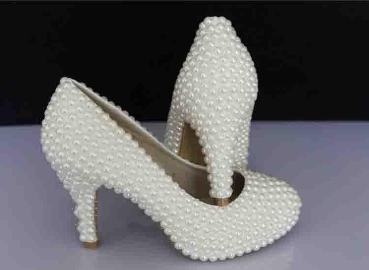 2016 handmade custom made Beautiful Platform High Heel Dress font b Shoes b font Bridal Wedding