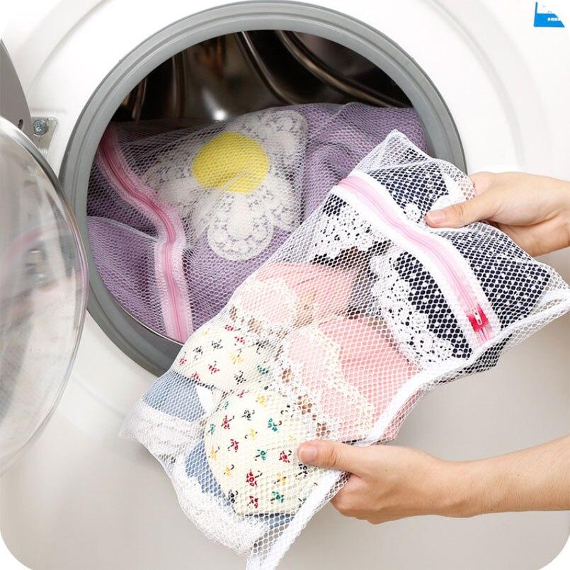 Clothes Washing Machine Laundry Bra Lingerie Mesh Wash Bag Pouch