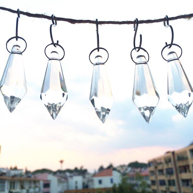 10 шт./лот с ультратонкой оправой 37 мм сверкают Стекло сосулька, люстры капли, с украшением в виде кристаллов лампа Запчасти, с украшением в виде кристаллов Стекло освещение Кулоны из нержавеющей стали
