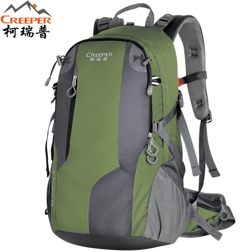 CREEPER Outdoor mountaineering bag men and women backpack 50 liters high quality factory price leisure sports package nylon Bag quality innovation bicycle infantry pack 14 6 inch waterproof and scratch resistant outdoor leisure men and women bike backpack