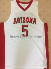 23 Hollis-Jefferson 5 stanley johnson Arizona Wildcats Red white Basketball  Jerseys Embroidery Stitched Personalized e30c4dacfe40