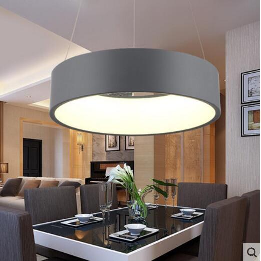 Minimalistische Opknoping Ronde Lamp Moderne Cirkel Led Hanglamp ...