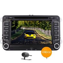 Free Camera  Android 5.1.1 Head Unit for Jetta Golf EOS Passat Polo 2Din In Dash Car DVD Player Stereo GPS Navigation Auto Radio