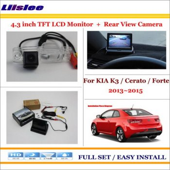 "Liislee For KIA K3 / Cerato / Forte 2013~2015 Car Rear Camera + 4.3"" TFT LCD Screen Monitor = 2 in 1 Back Up Parking System"