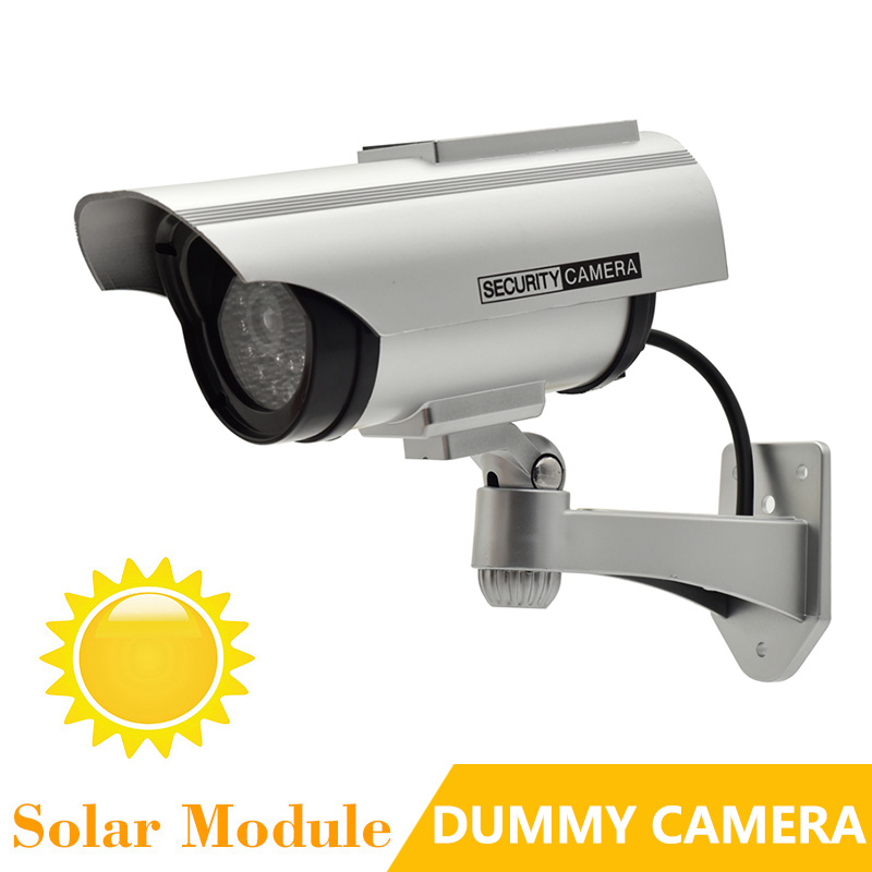 Fake Camera Bullet Solar Power Dummy Simulation Camera With IR Light Realistic Waterproof Outdoor Security CCTV Surveillance HQ bullet camera tube camera headset holder with varied size in diameter