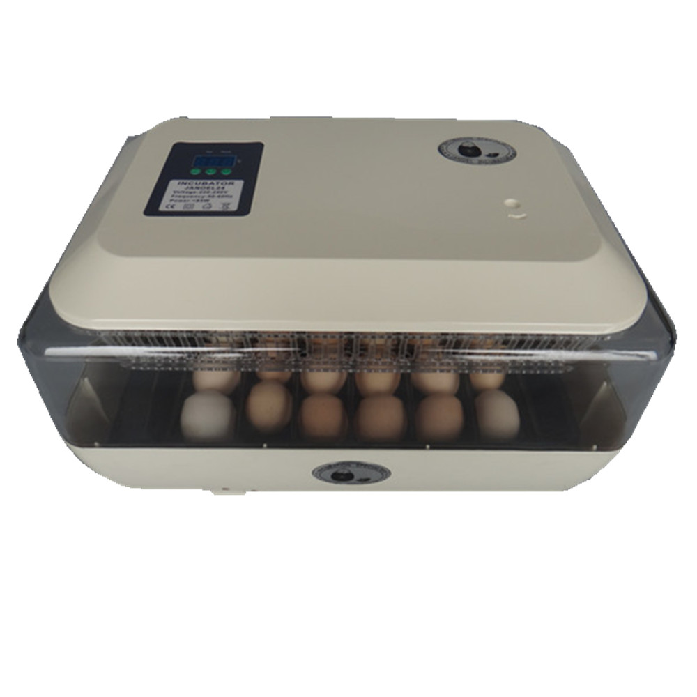 Motors Automatic Egg Incubator Tray 24 Egg High Hatching Rate Incubator New Incubation Equipment Chicken Bird