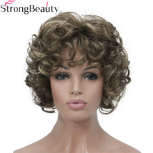 Strong Beauty Short Curly Wigs Synthetic Hair Capless Women Wig