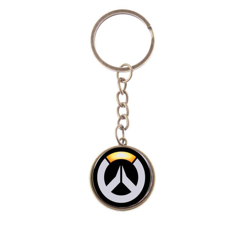 SIAN Pop игровой контрольный брелок высококачественный сплав металлический ключ для авто цепь OW Sign Time Gem держатель для ключей llaveros подарок для фанатов плеера