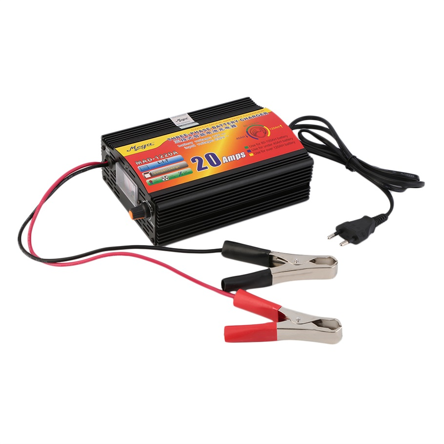 220v Input 20amp 3 Phase 12v Intelligent Car Battery Charger Circuit Lead Acid Monitor Motorcycle Eu Plug In Cigarette Lighter From Automobiles