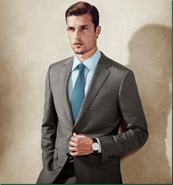 Latest Coat Pant Designs Dark Grey Formal Custom Groom Tuxedo ...