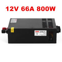 800W 12V 66A Small Volume Switching power supply for LED Strip light,LED module.etc DC 12V 800W 66A