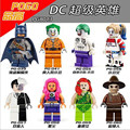 8 unids super heros pg8013 comando suicida joker harley quinn dos cara espantapájaros starfire dc figuras juguetes