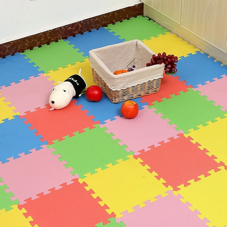 20pcs Assorted Colors Baby Kid EVA Foam Exercise Tiles Play Puzzle Mats For Kids Toddler Children Room Floor Carpet Pad Supplies
