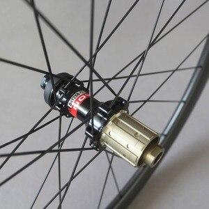 Image 4 - Dysk węglowy koła filar 1423 mówił Novatec D411/D412 piasty 6 śruby lub centralny zamek Cyclocross koła żwiru zestaw kół rowerowych