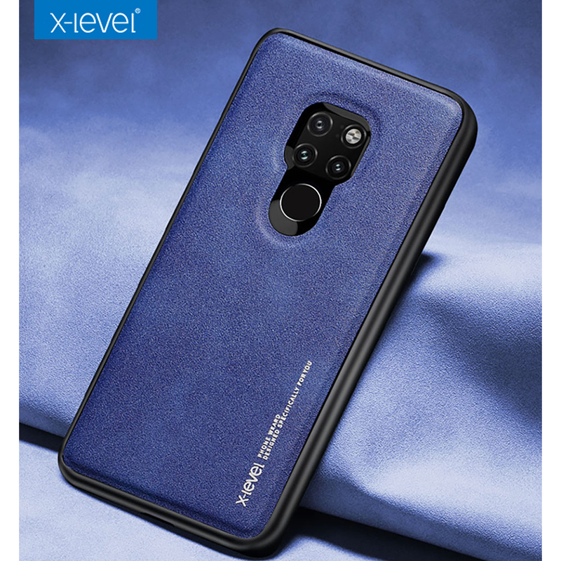 X-Level Luxury Leather Case for Huawei Mate 20 Pro Soft TPU Edge Protective Cover case for huawei mate20 case business style