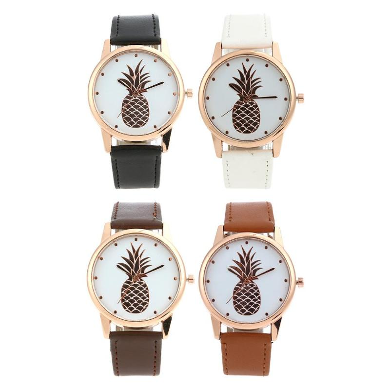 Fashion Fruit Pattern <font><b>Couple</b></font> <font><b>Watch</b></font> <font><b>Man</b></font> Casual Leather Band <font><b>Watches</b></font> <font><b>Ladies</b></font> Analog Quartz Wrist <font><b>Watch</b></font> saat image