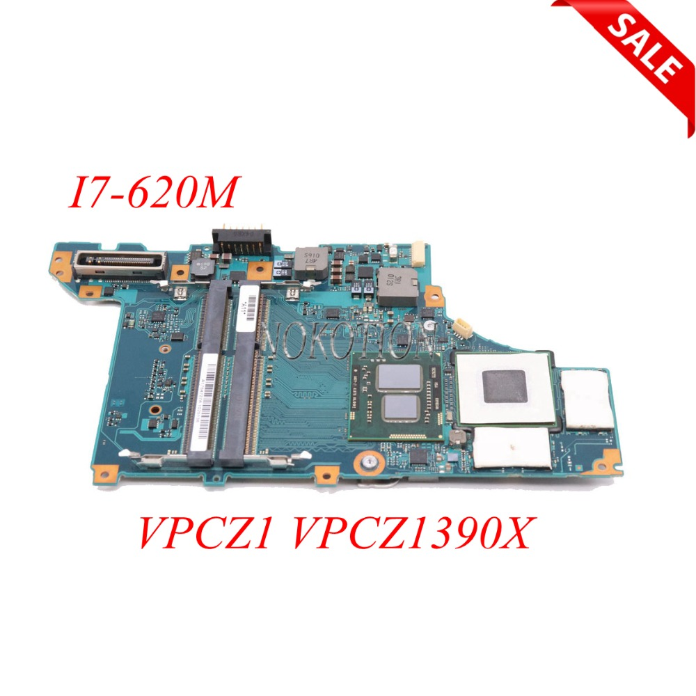 NOKOTION Laptop Motherboard For Sony Vaio VPCZ1 VPCZ1390X A1754727A A1789397A MBX-206 DDR3 I7-620M CPU Main Board full tested nokotion a1876092a da0hk6mb6g0 mbx 268 main board for sony vaio sve14 laptop motherboard ddr3 hd7600m video card