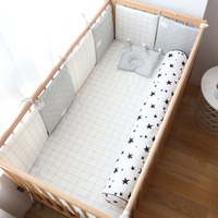 Baby Bumper For Newborns Cotton Soft Bumpers In The Crib For Baby Room Decoration Super Thick Crib Protector For Infant Kid Bed