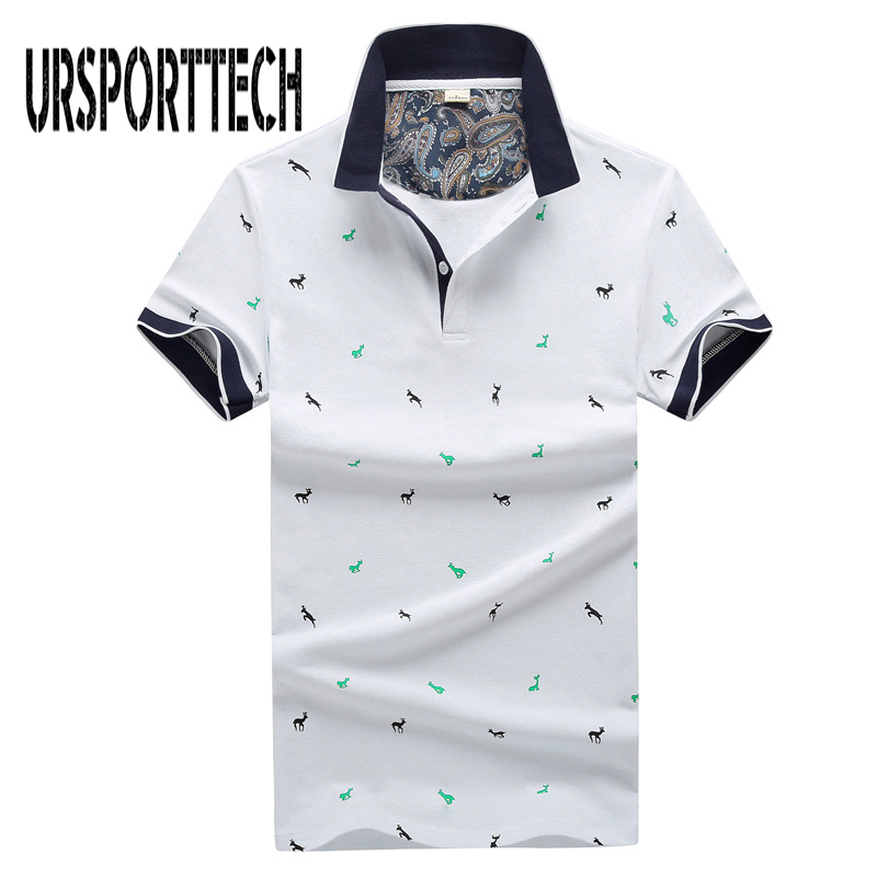New Brand   Polos   Mens Printed   Polo   Shirts Summer Cotton Short Sleeve Camisas   Polo   Casual Stand Collar Male   Polo   Shirt 4XL