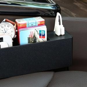 Image 3 - 車のフロントシート材オーガナイザー CE 認定 2 ポート USB 充電器携帯電話携帯ホルダーオートインテリアアクセサリー