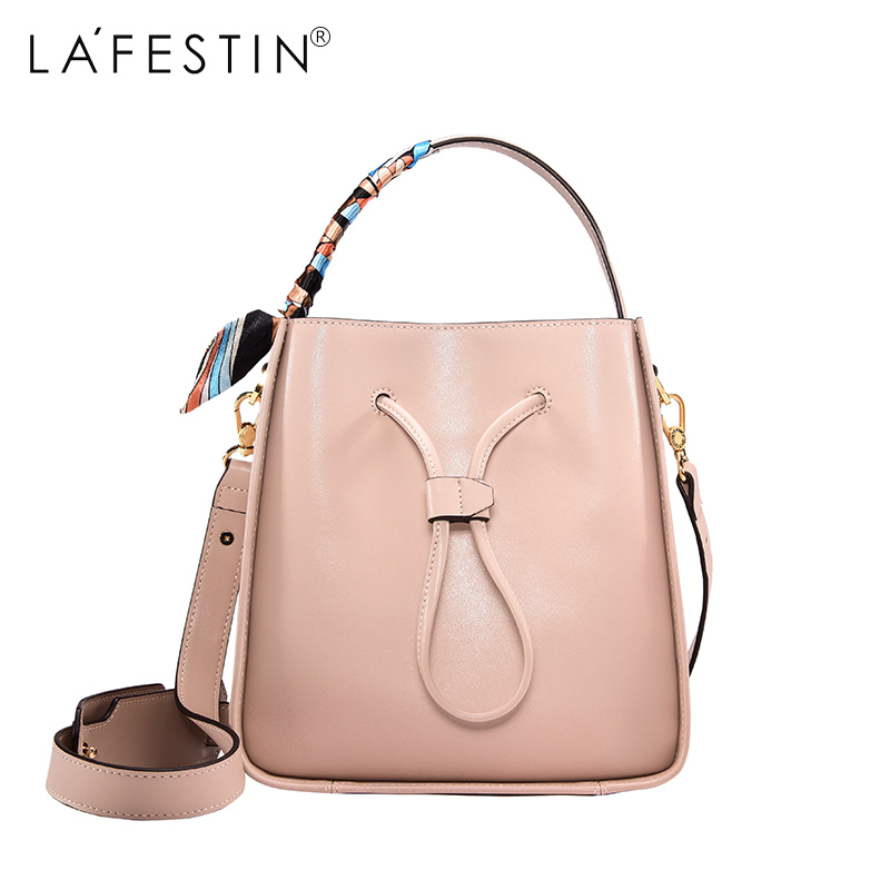 LAFESTIN Famous Bucket Handbags Women Designer Real Leather bags Shoulder Luxury String Totes Multifunction brands Bag bolsa lafestin luxury shoulder women handbag genuine leather bag 2017 fashion designer totes bags brands women bag bolsa female
