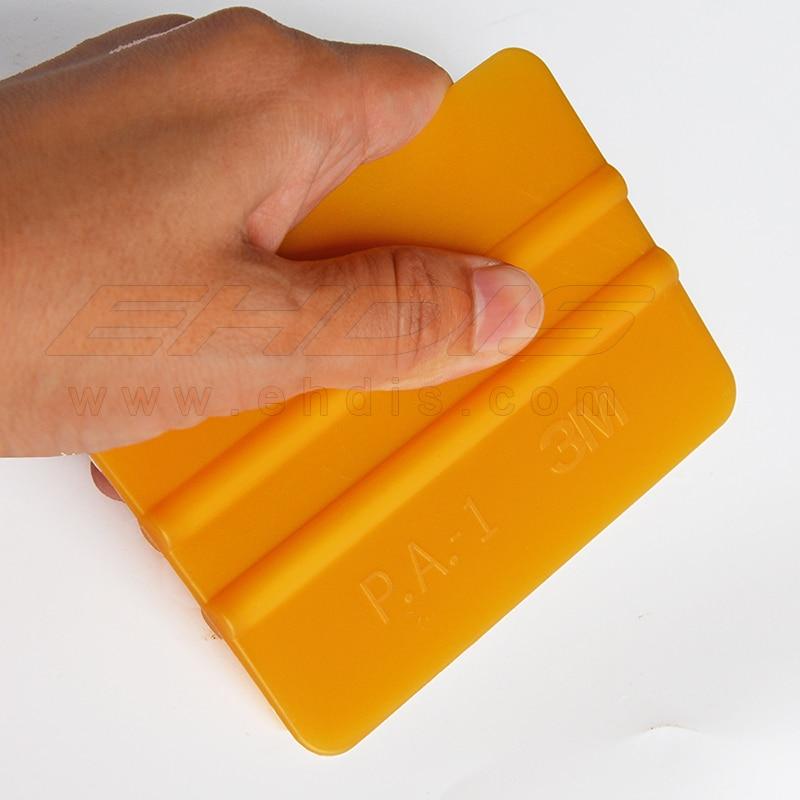 EHDIS 3M Gold Squeegee 3D Carbon Fiber Foil Vinyl Film Wrapping Squeegee Window Wash Tools Multi Scraper Car Cleaner 10x7.3cm