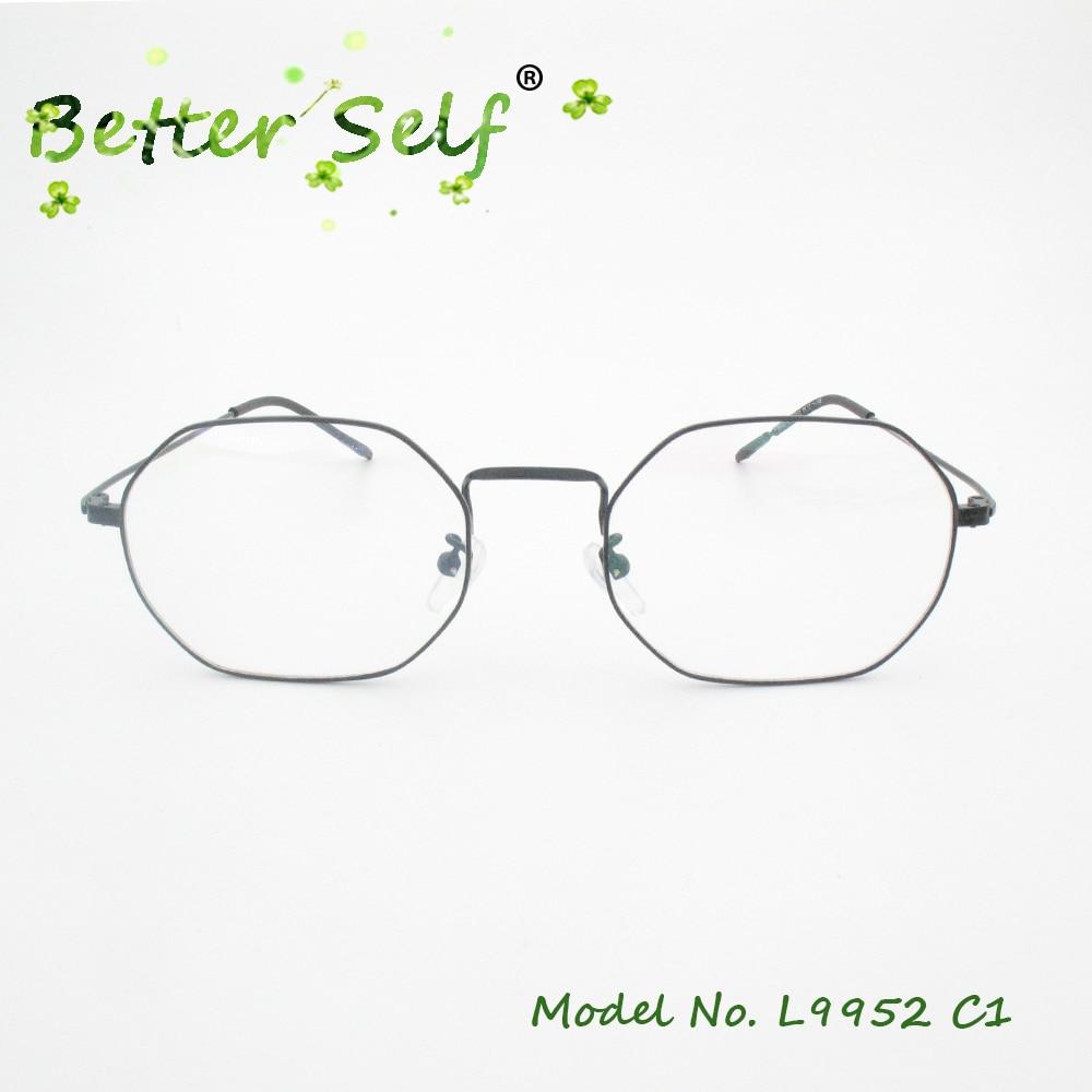 89369470c3c Better Self L9952 Silver Eye Glasses Frames For Women Men Prescription  Eyewear Metal Spectacles Slim Myopia