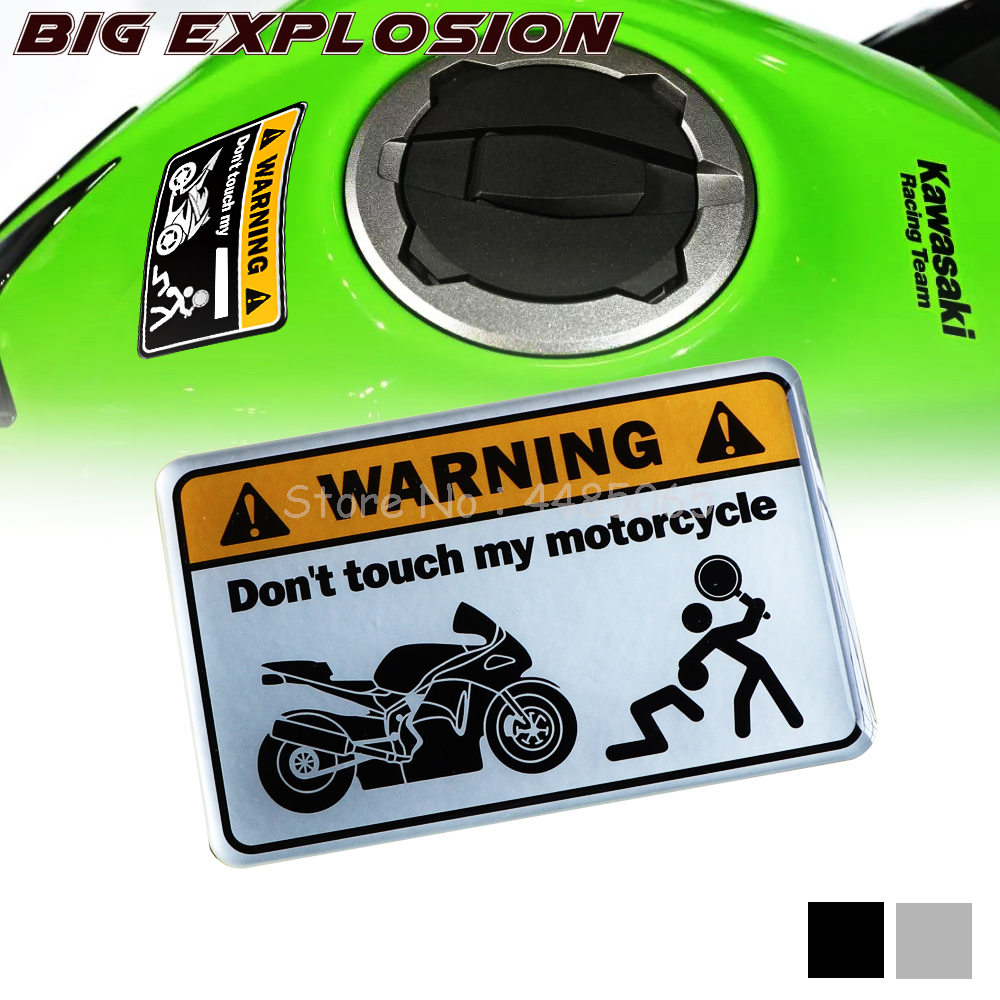Motorcycle Sex Decal Stickers Universal For MOTO Silver High Quality  3D Gel Warning Sticker Don't Touch My All Motorcycle Decal