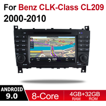 For Mercedes Benz CLK Class C209 A209 2000~2010 NGT Car Android 9 GPS Naviation Multimedia system Bluetooth Radio Amplifier