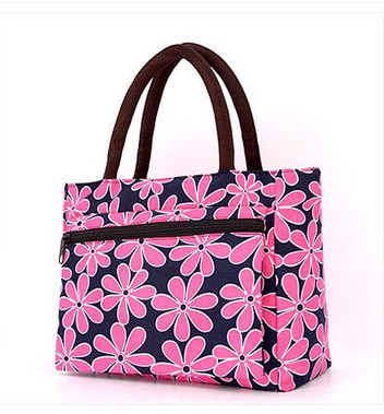 2017 korean new lunch bag flowers storage box insulated pouch picnic tote high quality free shipping