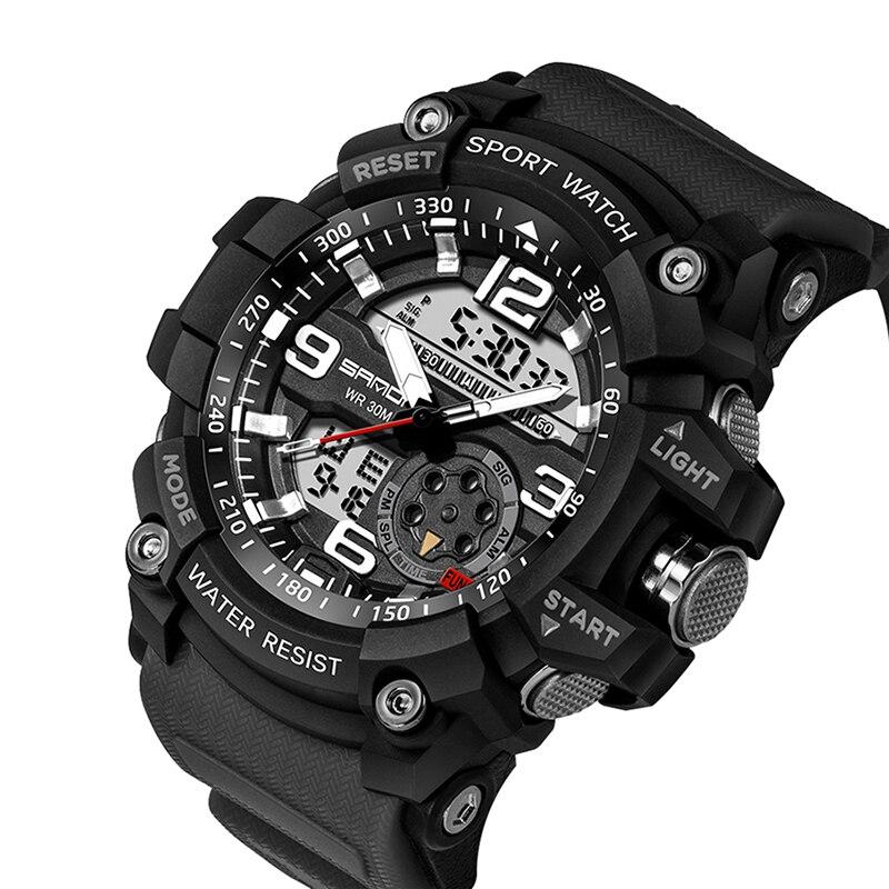 HTB1OKTBub5YBuNjSspoq6zeNFXaI SANDA 759 Sports Men's Watches Top Brand Luxury Military Quartz Watch Men Waterproof S Shock Wristwatches relogio masculino 2019