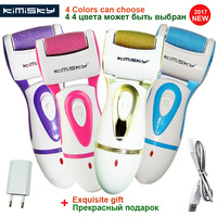 KIMISKY Green Rechargeable FOOT CARE TOOL File Callous PEDICURE Electric Exfoliator Callus Remover File PK Scholls