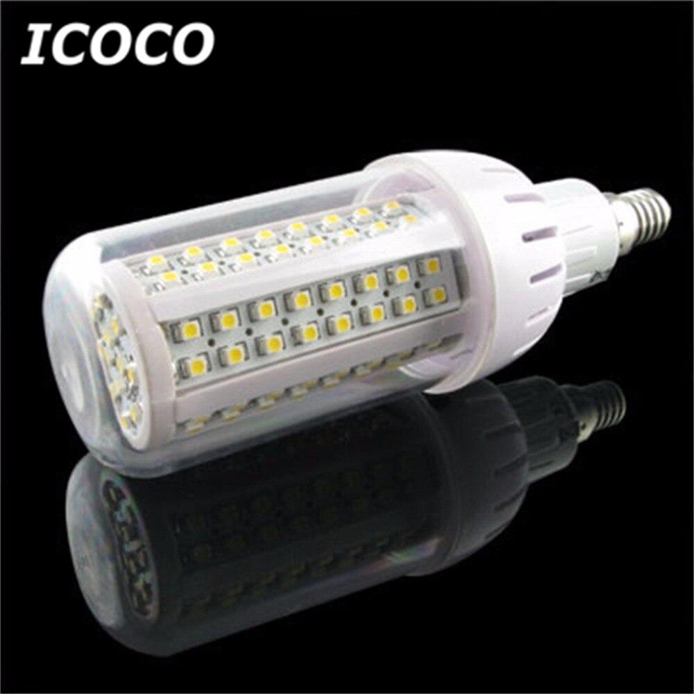 ICOCO 4 x 108 SMD 3528 LED E14 Corn Light Bulbs Warm White Home Lamps Energy Saving Promotion Sale Drop Shipping ymd 6 g9 6w 540lm 3000k 108 x smd 3528 led warm white corn light transparent white 220 240v