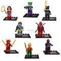 Лот 8 Компл. Супер Heros Джокер Дэдпул Вспышки Фигурки Строительные Блоки Игрушки Kid Подарок Совместимость С Lego