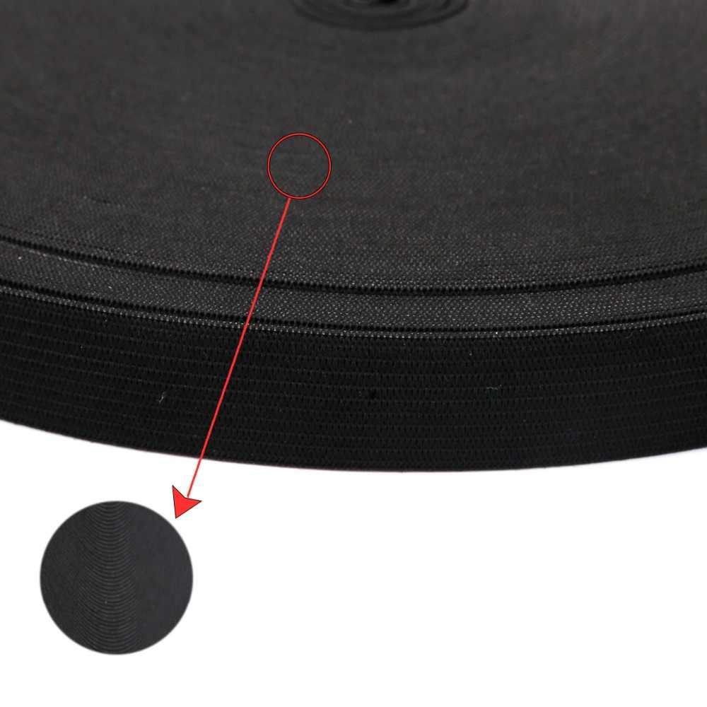 Ancho 0,6-5cm, 5 yardas, banda elástica blanca y negra, cinturón de LICRA de corte, costura/cinta de ropa, Material de costura flexible para Falda corta