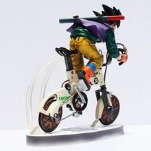 Son Goku Kakarot Riding Bicycle Bike Nunchuks Dragon Ball Figure
