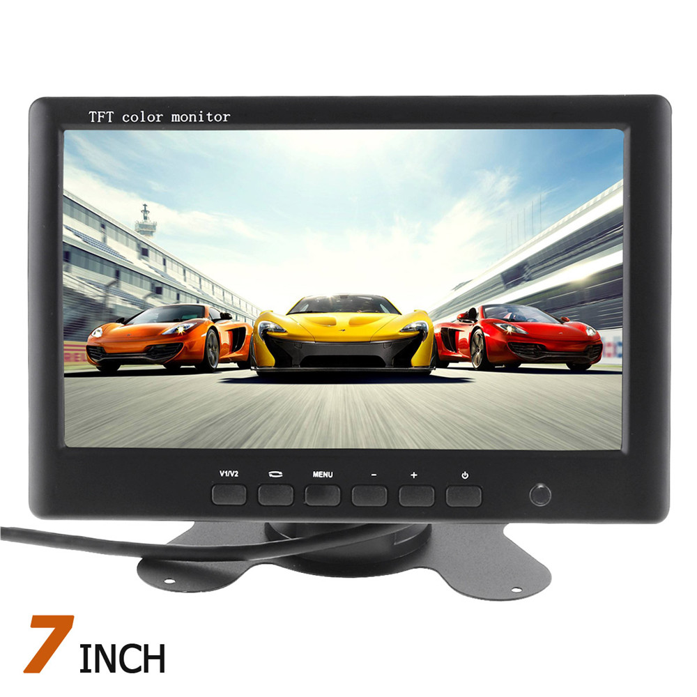 7 Inch TFT LCD Display HD Color Car Rear View monitor 2 Channels Video Input for Car Rear View Reverse Paking Camera7 Inch TFT LCD Display HD Color Car Rear View monitor 2 Channels Video Input for Car Rear View Reverse Paking Camera