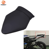 POSSBAY Black Motorcycle Leather Cushion Rear Seat for BMW S1000 2009 2010 2011 2012 2013 2014 Scooter Cushion Cover Seat Pad