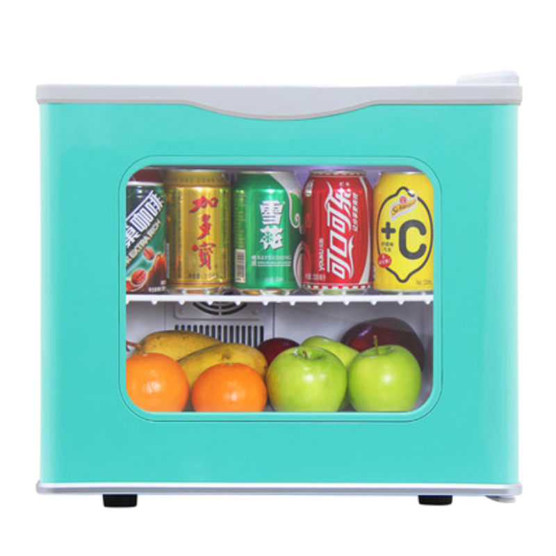 17l glass door mini bar hotel fridge double cooling north europe style 220v white - Glass Front Mini Fridge