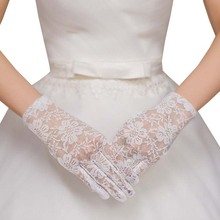 Новые элегантные стильные солнцезащитные кружевные аксессуары открытые перчатки Нежные Черные кружевные перчатки с ажурным узором Свадебные перчатки