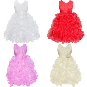 Image 3 - High Quality New Flower Girl Party Bridesmaid Pageant Princess Dress For Little Girls Gift Organza First Communion Dresses