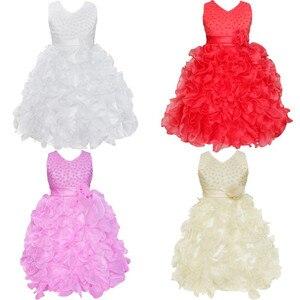 Image 3 - Nueva flor de alta calidad para niña, vestido de princesa Pageant para niña pequeña, regalo, vestidos de primera comunión de Organza
