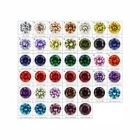 54pcs CZ Stone 13pc Synthetic Spinel 12pcs Synthetic Corundum 6mm Cubic Zirconia Color Chart