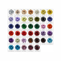 54pcs CZ Stone 13pc Synthetic Spinel 12pcs Synthetic Corundum 6mm Cubic Zirconia Color Chart