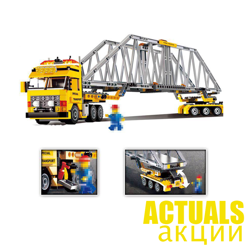 LEPIN City 02041 389PCS Heavy Loader Building Blocks Bricks enlighten toys for children Brithday gifts brinquedo compatible 7900 2017 enlighten city bus building block sets bricks toys gift for children compatible with lepin