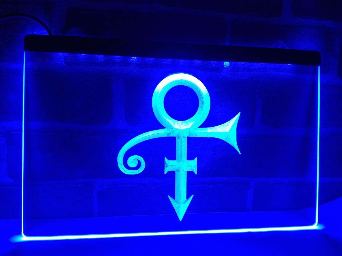 Lf199 prince symbol led neon light sign home decor crafts for Room decor neon signs