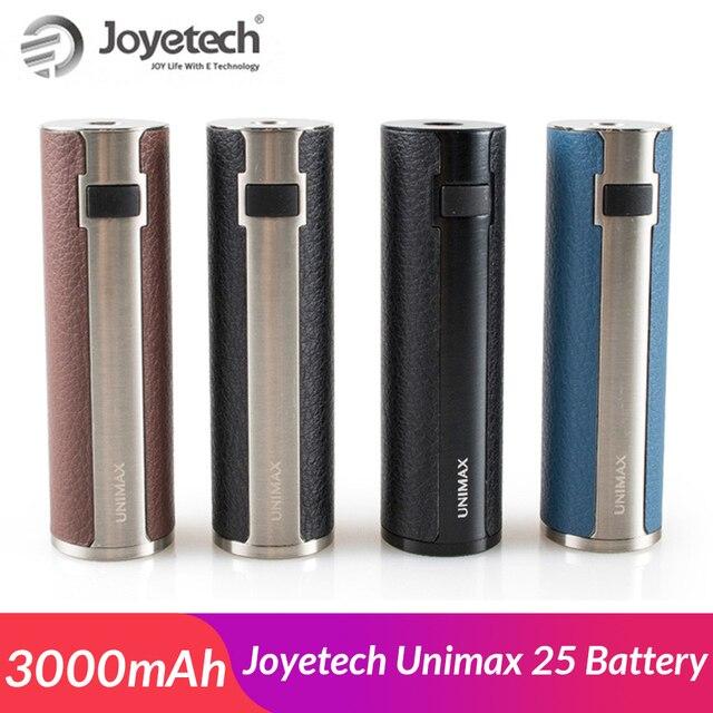 Nga/USA Gốc Joyetech Unimax 25 Pin Mod được xây dựng trong 3000 mah Pin thuốc lá điện tử pin 510 chủ đề e -điếu